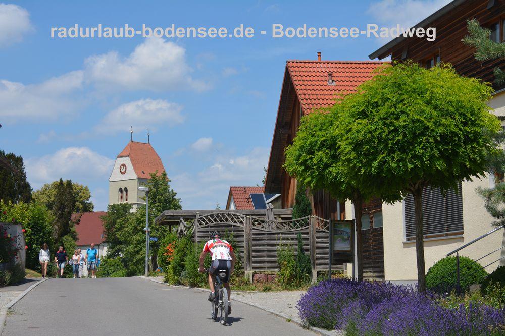 Radurlaub Bodensee - Bodenseeradweg in Bodman
