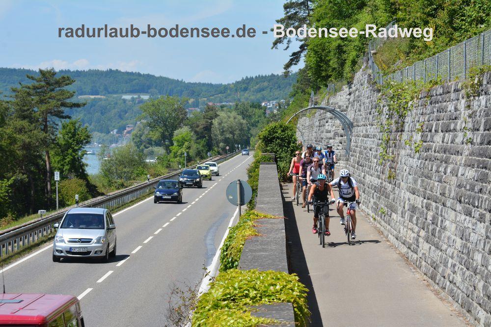 Radurlaub Bodensee - Bodenseeradweg bei Sipplingen