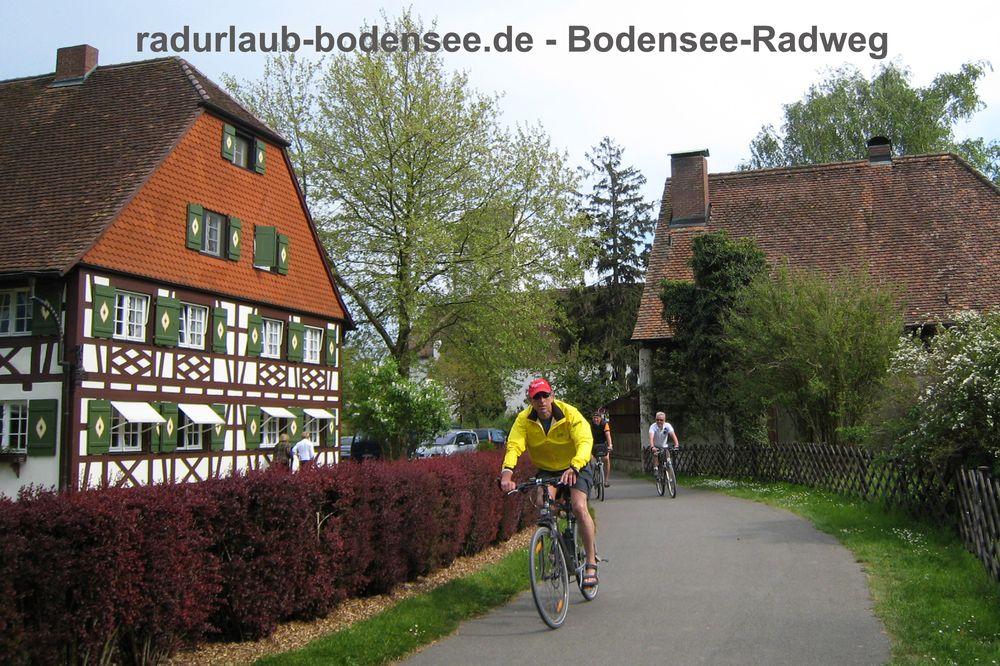 Radurlaub Bodensee - Bodensee-Radweg in Uhldingen