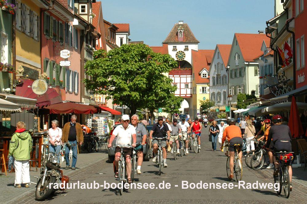 Radurlaub Bodensee - Bodenseeradweg in Meersburg