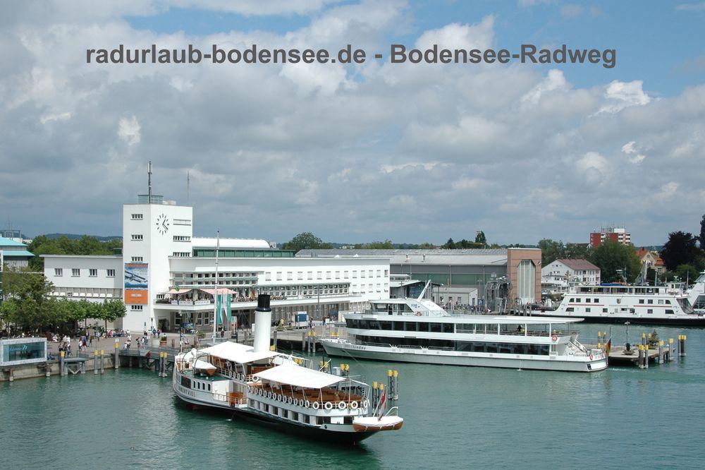 Radurlaub Bodensee - Radweg in Friedrichshafen