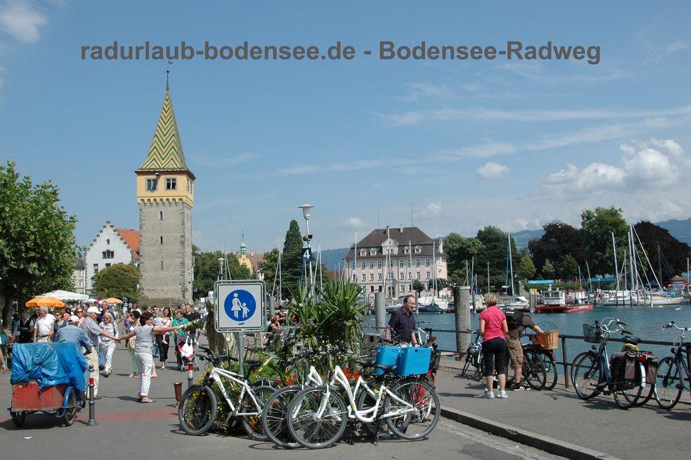 Radurlaub Bodensee - Bodenseeradweg in Lindau