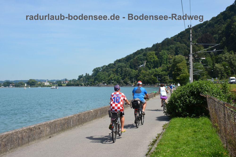 Radurlaub Bodensee - Bodensee-Radweg in der Bregenzer Bucht