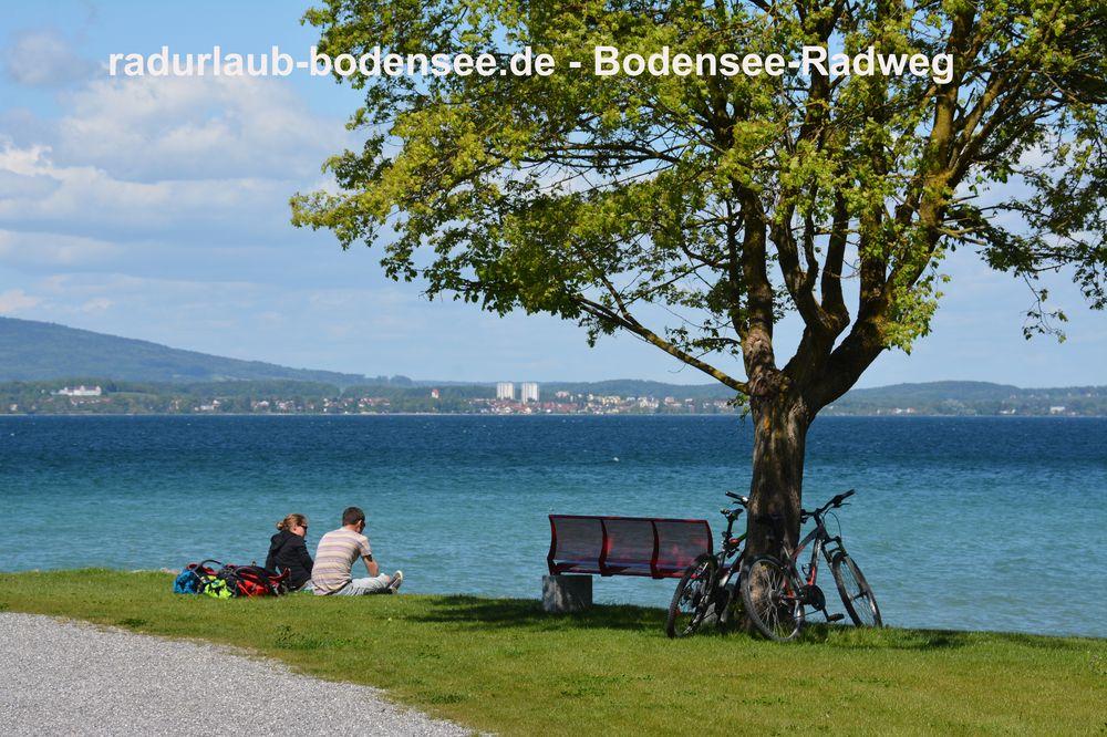 Radurlaub Bodensee - Bodenseeradweg bei Güttingen
