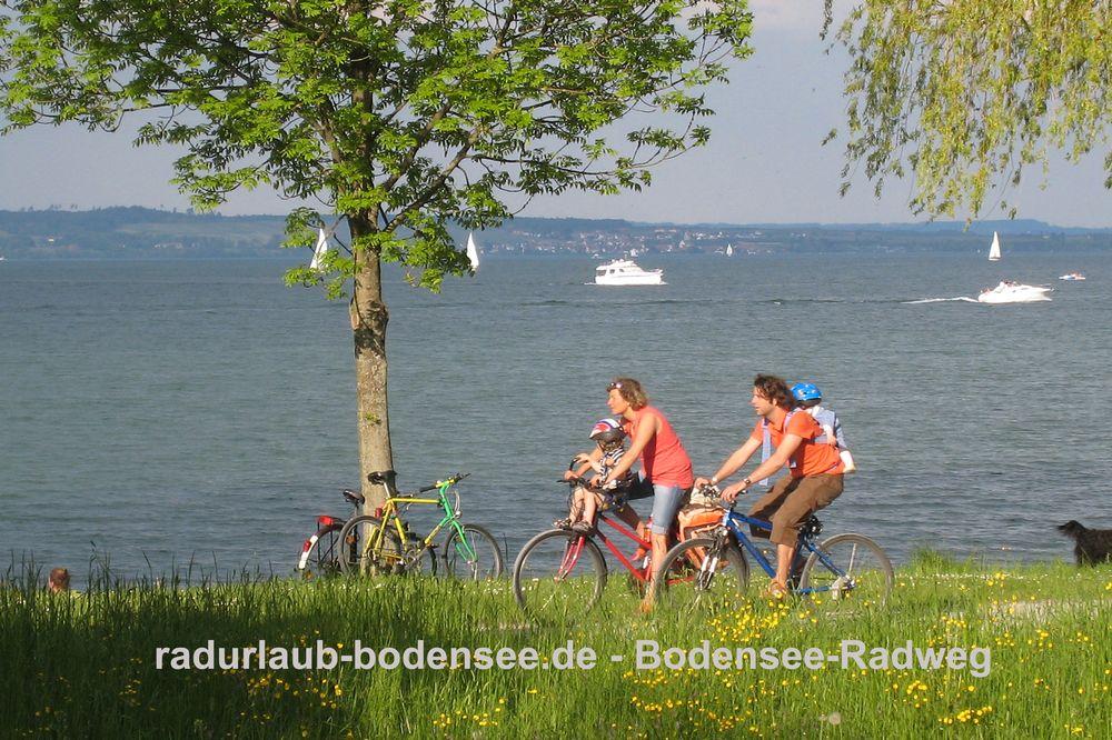 Radurlaub Bodensee - Bodensee-Radweg bei Kreuzlingen