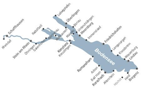 Entfernungen am Bodensee-Radweg