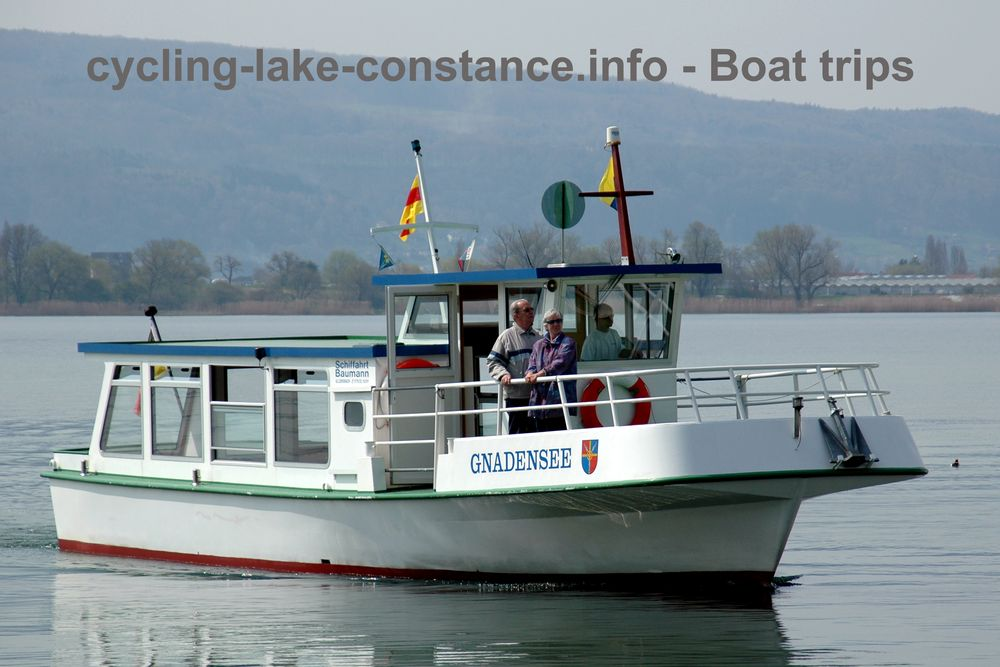 Boat trips on Lake Constance - MS Gnadensee