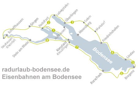 Bodensee Karte.Bahnen Entlang Des Bodensee Radweg