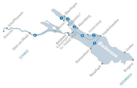 Karte Bodenseeschifffahrt
