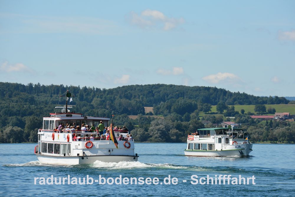 Schifffahrt am Bodensee - MS Uhldingen und MS Milan