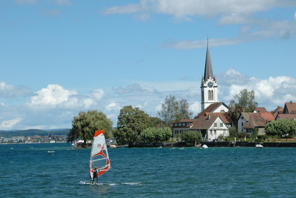 Radurlaub am Bodensee - Surfen auf dem Bodensee