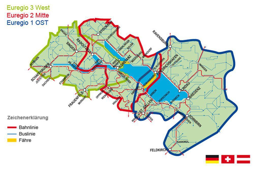 Radurlaub am Bodensee - Das Euregio-Ticket