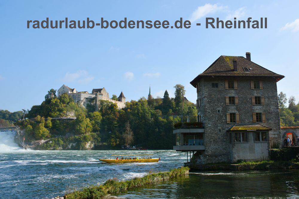Radurlaub am Bodensee - Rheinfall bei Schaffhausen