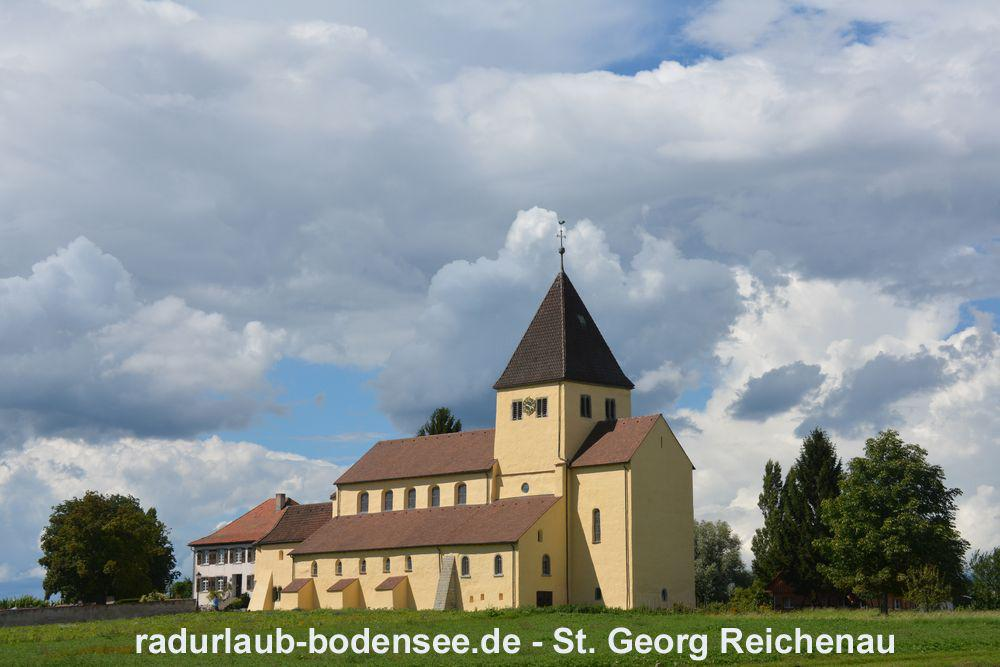 Cycling along Lake Constance - St. George's Church - Isle of Reichenau