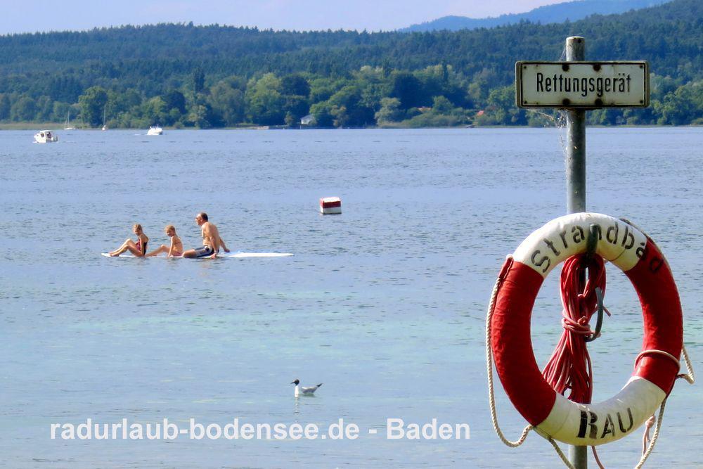 Radurlaub am Bodensee  - Baden im Bodensee