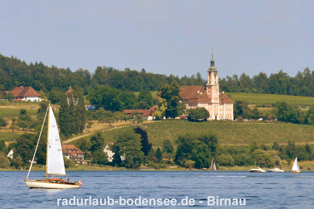 Radurlaub am Bodensee - Die Wallfahrtskirche Birnau