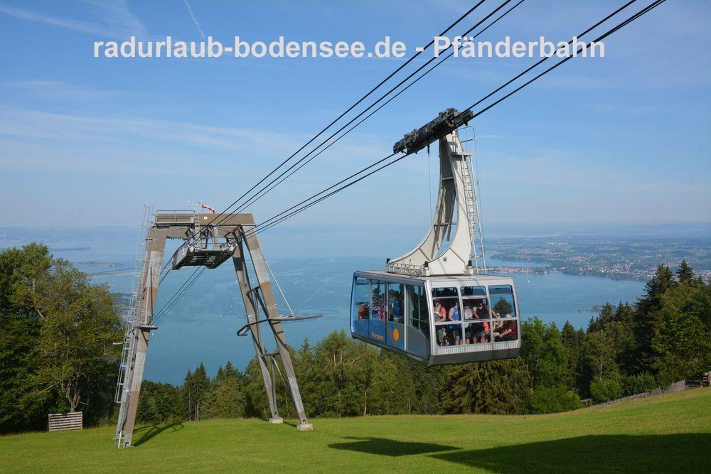 Cycling along Lake Constance - Pfänder mountain and cable car