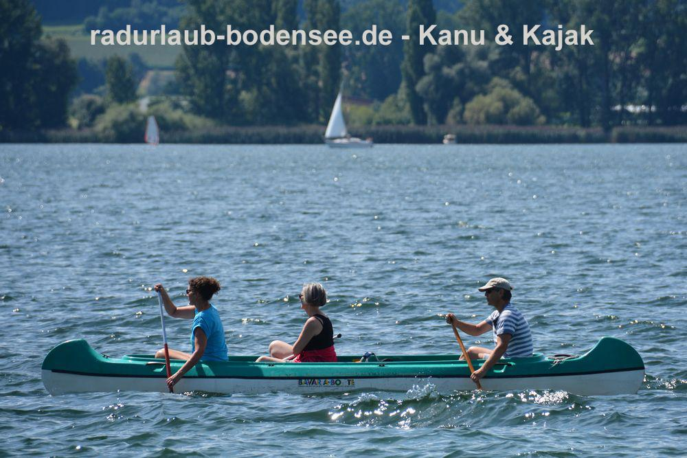 Cycling Lake Constance - Canoeing and kayaking on Lake Constance