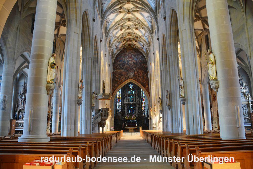 Radurlaub am Bodensee - Das Münster St. Nikolaus in Überlingen