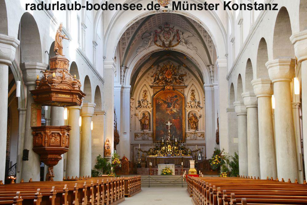 Radurlaub am Bodensee - Das Münster in Konstanz