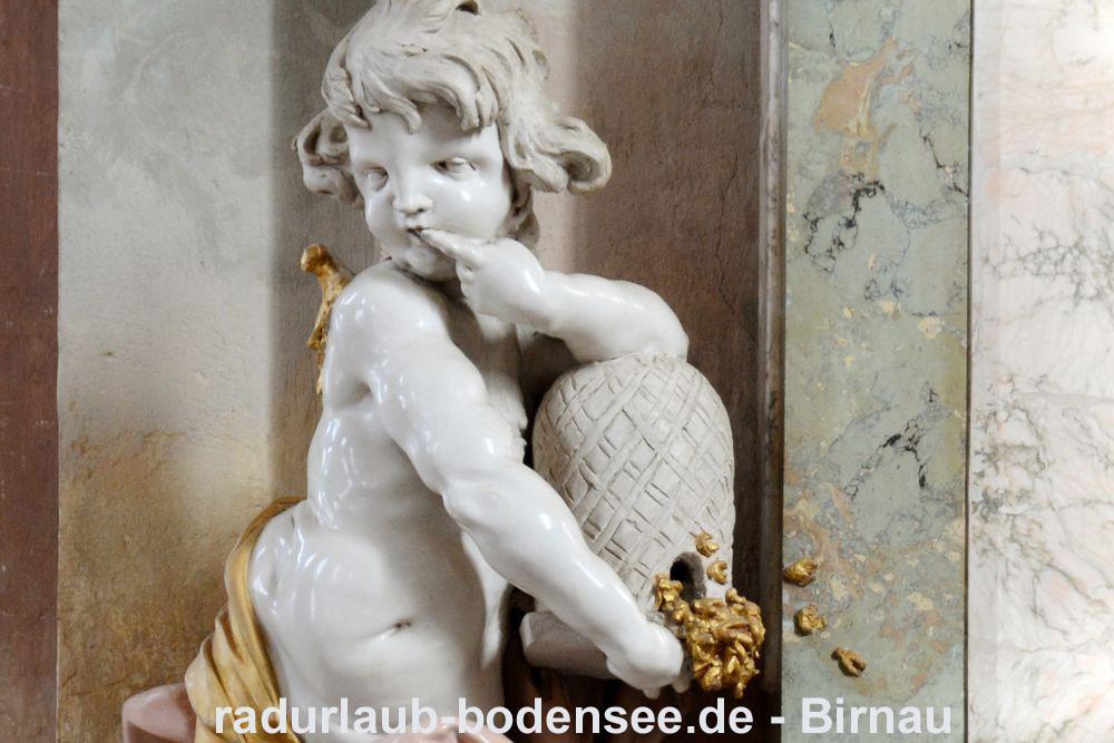 Radurlaub am Bodensee - Wallfahrtskirche Birnau - Honigschlecker
