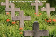 Radurlaub am Bodensee - Wallfahrtskirche Birnau - KZ-Firedhof